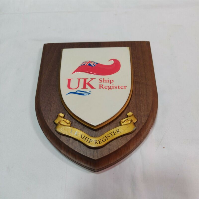 Boat Decoration Item UK Ship Register Emblem. Free Shipping.