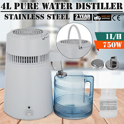 750w 4l Pure Water Distiller All Stainless Steel Interior Distilled Filter
