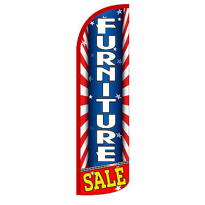 Furniture Sale Red Windless Advertising Sign Feather Flag Only Banner 30 Wider
