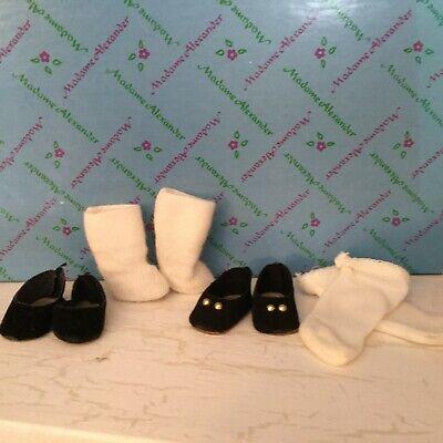"Original Black Shoes & Socks for 8"" Madame Alexander dolls 2 pairs  #2"