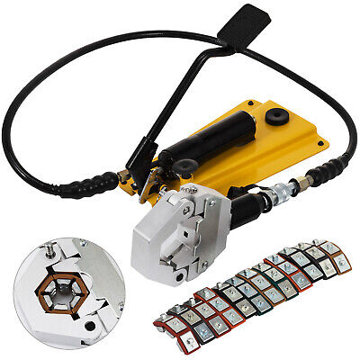 Separable Hydraulic Hose Crimper With Pedal Pump 6 Dies Ac Air Condtioning