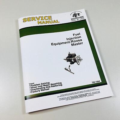 Roosa Master Fuel Pump Service Manual For John Deere 4030 4040 4240 Tractor