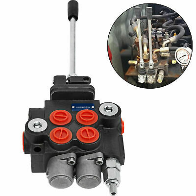 2 Spool Hydraulic Directional Control Valve Tractor Loader With Joystick 11 Gpm