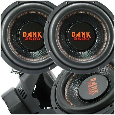 Audiobank 12 ίντσας 5000 Watt Subwoofer αυτοκινήτου ήχου w/ 4 Ohm DVC Ισχύς 12 'Sub X2