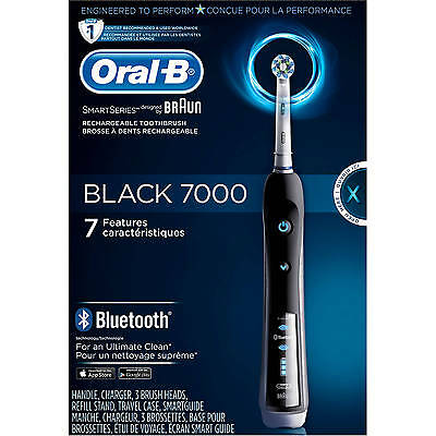 Word-of-mouth-B Pro 7000 SmartSeries Black Electric Toothbrush Powered by Braun