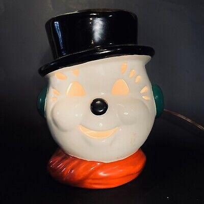 Vintage Christmas Snowman Lamp Underwriters Lab Light