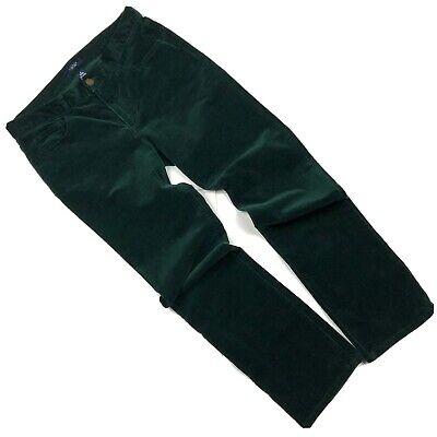 "LKNW Womens CHAPS Green Velvet Pants Size 8 Waist 33"""