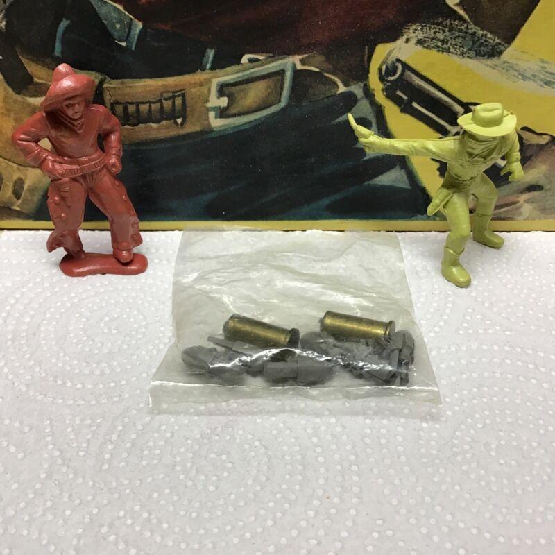 Vintage 1950s Mattel Toy Shootin Shell 2 Brass Shells & 6 Tips New Old Stock MIB