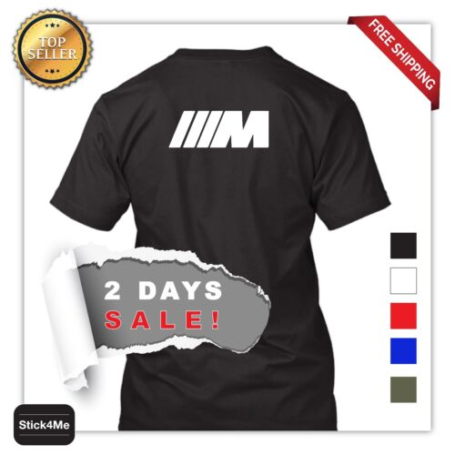 BMW M3 M5 M logo car racing T-shirt high-quality sports car lover 2 DAYS SALE!