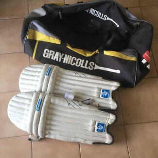 Cricket Bag and boys pads