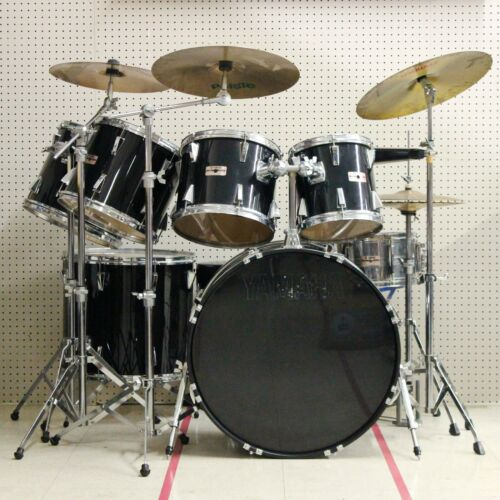 Vintage Yamaha Japan 7 pc Piano Black Drum Set - LOCAL PICKUP