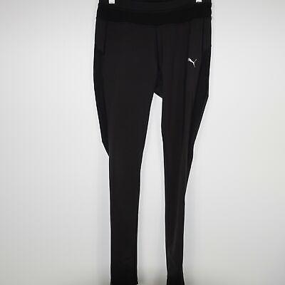 Puma Stretch Leggings (Puma Womens Leggings Stretch Side Mesh Athletic Workout Pants Black Size XS)
