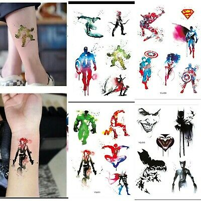 Children Avengers Captain America Temporary Tattoo Stickers For Kids Superheros - Avengers Tattoo
