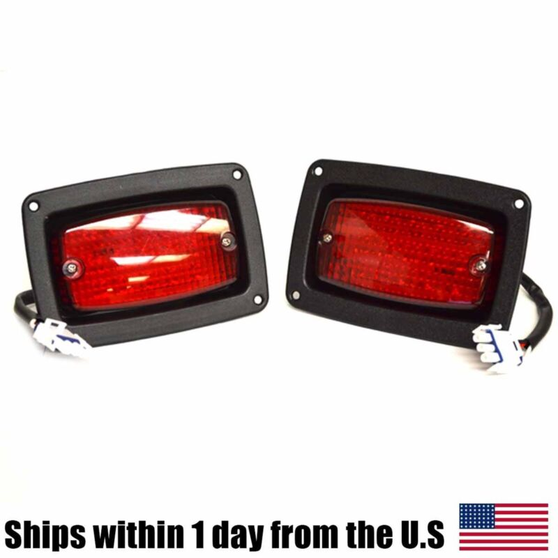 2 Golf Cart LED Tail Light 3 Wire Rear Taillights Pair Fits Club Car DS