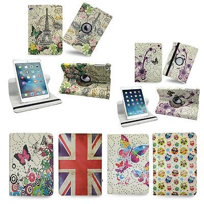 360 Rotating Printing Leather Case Cover For Samsung Galaxy Tab A 9.7'' SM-T550