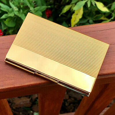 Gold Pocket Stainless Steel Metal Business Card Holder Case Id Credit