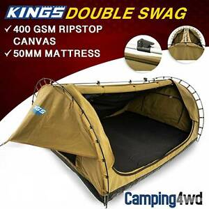 NEW! Kings Big daddy Double Swag Camping Tent Adventure 4WD Canvas