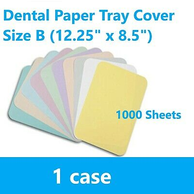 1case 1000 Pcs Dental Paper Tray Cover Size B 12.25 X 8.5 - All Colors