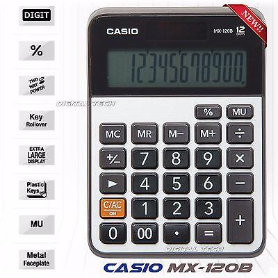 Casio MX-120B Calculator MX120B 12 Digit Solar Large Display Regular Percent New
