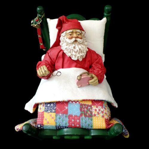 "CLOTHTIQUE POSSIBLE DREAMS / SANTA MUSIC BOX ""WHITE CHRISTMAS"" / VINTAGE 1990"