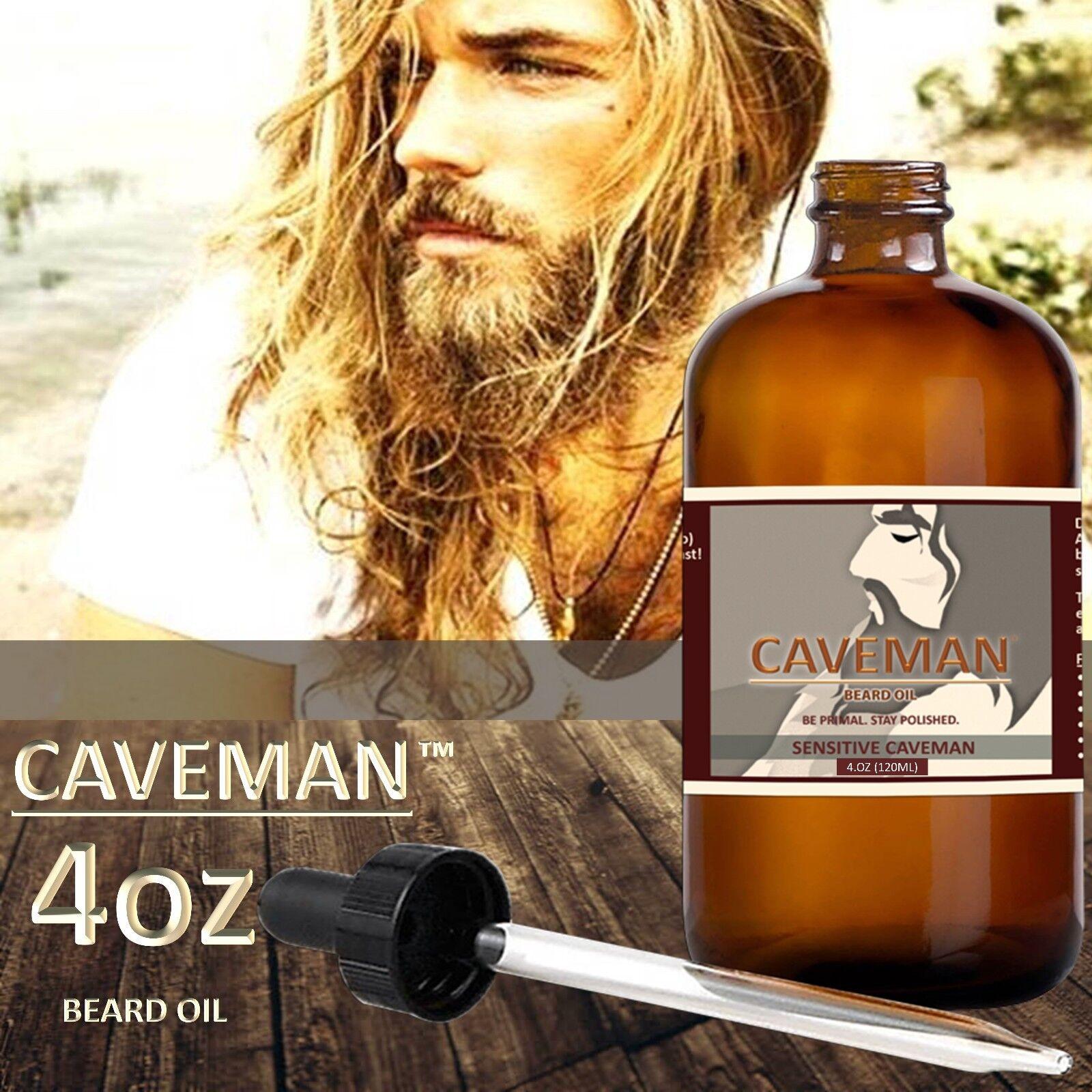 4oz Caveman™ Beard Oil for Men - Grooms Beard, Mustache, b