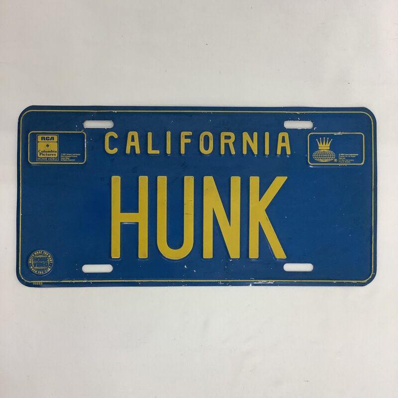 "CALIFORNIA ""HUNK"" License Plate Still 1986/87 Movie Brad Pitt RCA"