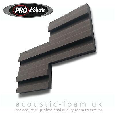 "24x BLOCK45 Pro Acoustic Foam Tiles 12"" 305mm Studio Sound RoomTreatment"