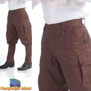 VICTORIAN STEAM PUNK COSPLAY TROUSERS One Size Mens Fancy Dress Costume