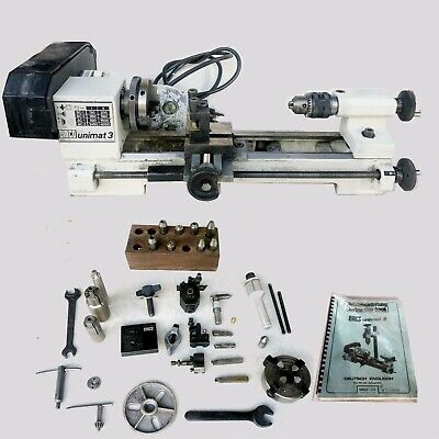 Emco Unimat 3 Lathe Waccessories Used Working Condition