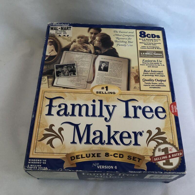 FAMILY TREE MAKER Deluxe 8 CDS New Version 6