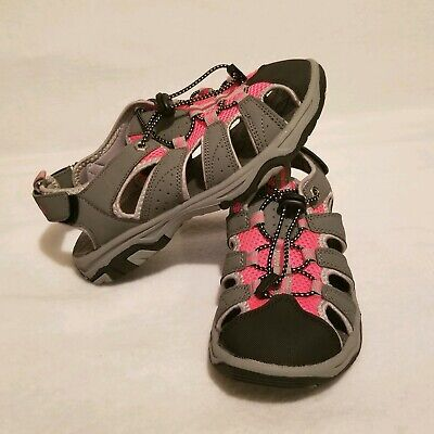 Itasca Women's Size 8 Pink And Gray Hiking Sandals With Adjustable Straps