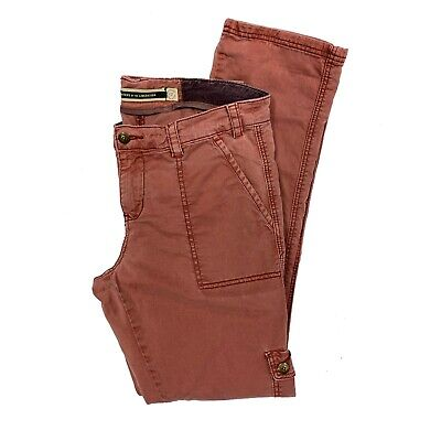 """Anthropologie Daughters of the Liberation women's 27 Pink Cargo Pants 32"""" Waist"""