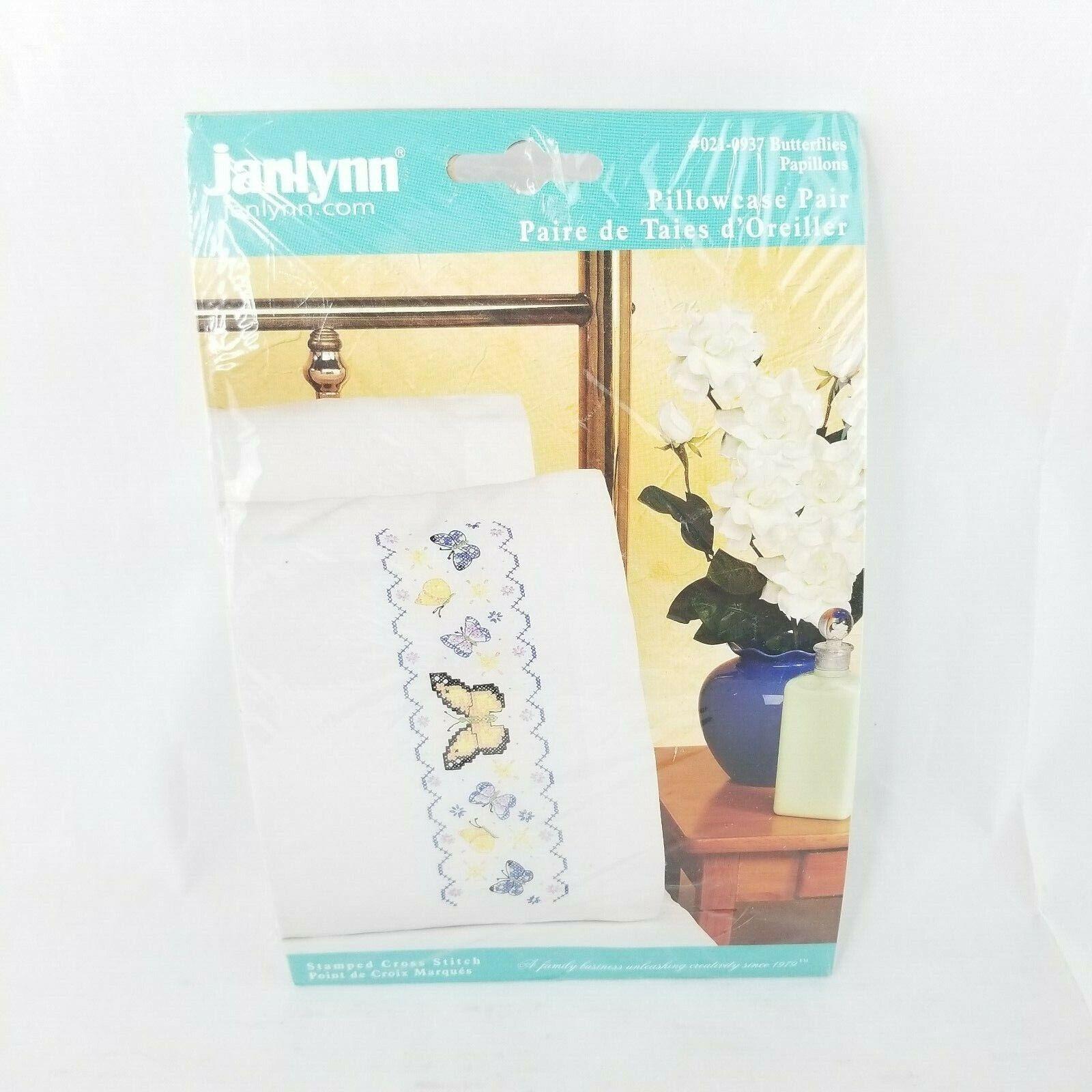 JANLYNN Premium Pillow Cases 2pk for Stamped Cross Stitch Bu