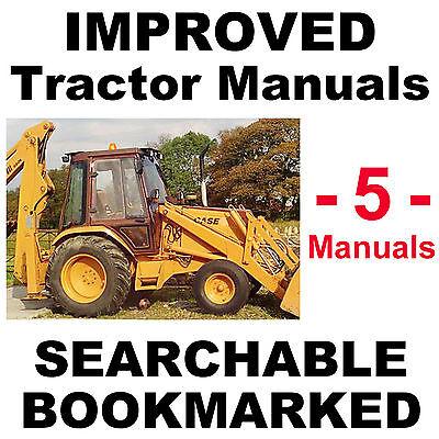 Case 580 Super K 580sk Service Manual Operators Parts Manual -5- Manuals Cd