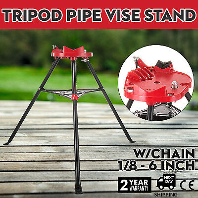 460 6 Tripod Pipe Chain Vise Stand 20x16 Base Plate Fits Ridgid 72037 36273