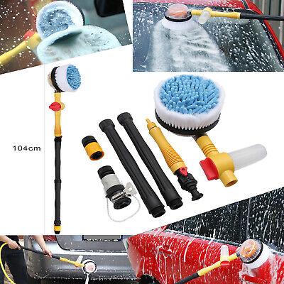 Car Rotating Washing Brush Sponge Cleaner Hose Vehicle Care Washing Cleaner Tool (Vehicle Wash Brush)