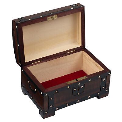 Double Pistol Chest Box Handmade Wood Keepsake Pirate Treasure Jewelry Box - Handmade Wood Jewelry