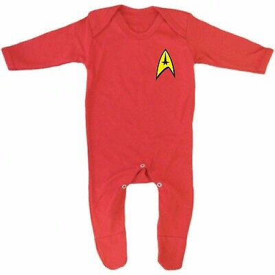 ptain Kirk Spock Enterprise Starfleet Baby Grow/Sleep Suit (Captain Spock)