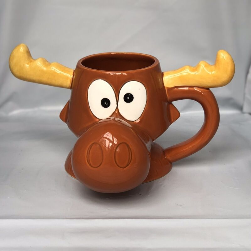 Bullwinkle Vintage 1995 Mug Rare Hard To Find Rocky And Bullwinkle Collectible