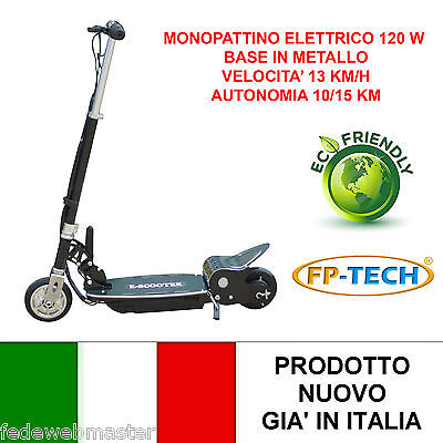 Monopatín Eléctrico 24V 120W Base Metálico E-Scooter Bicicleta Eléctrica