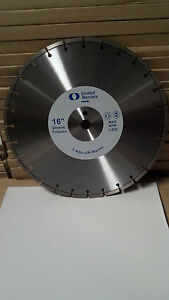 NEW 16x125 DIAMOND CONCRETE/ASPHALT/BLOCK/BRICK BLADE