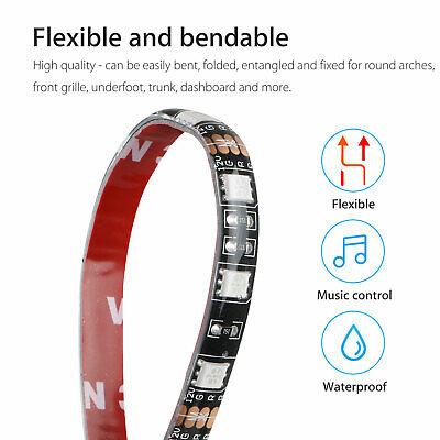 RGB 48 LED Strip Under Car Tube Underglow Underbody System 4Pcs Neon Lights Kit 5