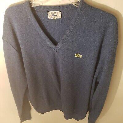 Lacoste Izod Mens Sweater V Neck Blue Size Large