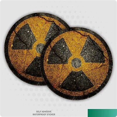 2 x Radioactive Grunge Stickers Car Van Lorry Vinyl Self Adhesive Decal
