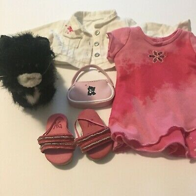 Retired ~ American Girl Doll Best Friend Outfit & Licorice Black Stuffed Cat - Best Cat Outfits