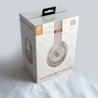 Beats Studio3 Wireless Noise Cancelling Over-Ear Headphones, Porcelain Rose, NEW