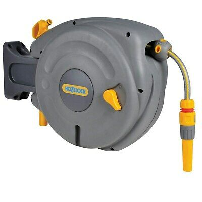 Hozelock Auto Rewind Hose Reel with Fittings - 10 Meters