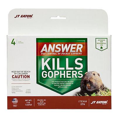 JT Eaton Answer For Pocket Gophers ( 4 blocks ) Killer Bait for Pocket Gophers  - Jt Eaton Bait Blocks