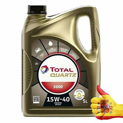 Aceite total Quartz 5000 diesel 15w40 5L PSA PEUGEOT CITRÖEN Gasolina- Diesel