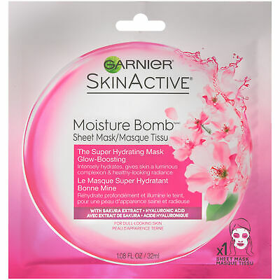 skinactive super hydrating sheet mask glow boosting
